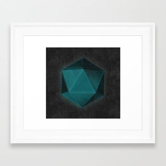 spatial geometry Framed Art Print