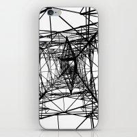 Large Electricity Powermast iPhone & iPod Skin
