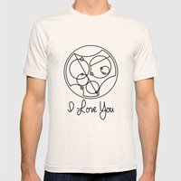 I Love you Gallifreyan Doctor Who Mens Fitted Tee Natural SMALL