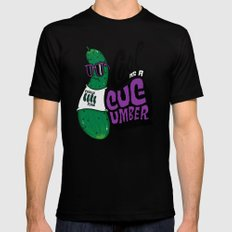 Cool as a Cucumber Black SMALL Mens Fitted Tee