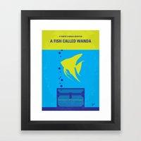No389 My A Fish Called Wanda minimal movie poster Framed Art Print