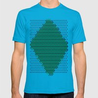 Knitting Mens Fitted Tee Teal SMALL
