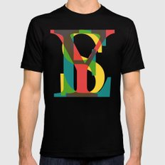 YES SMALL Mens Fitted Tee Black