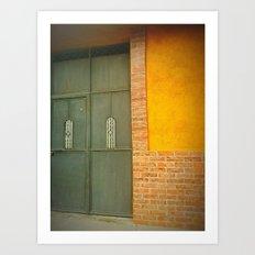 Yellow Grey Art Print