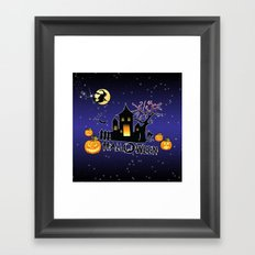 Halloween, Sky Framed Art Print