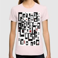 Pattern Party Womens Fitted Tee Light Pink SMALL