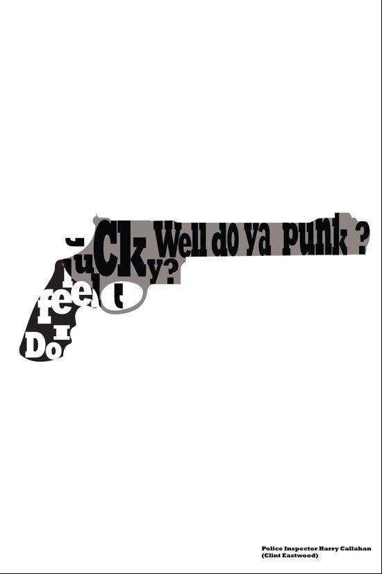 """Do I feel lucky?"" Well, do ya, punk?  Art Print"