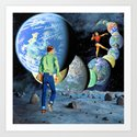 jumping planets Art Print