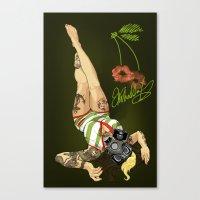 Kisses From Vanessa Canvas Print