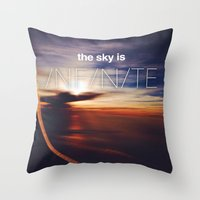 the sky is...  Throw Pillow