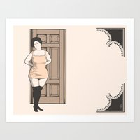Art Print featuring Lenora by Wolves In Space