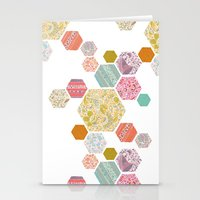 Summer honeycomb Stationery Cards