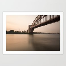 Hell Gate Bridge (NYC) at Sunset Art Print
