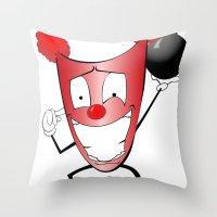 Zany Zinger T-Shirt Throw Pillow
