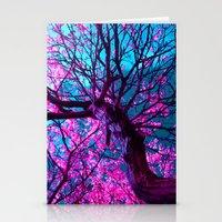 purple tree XII Stationery Cards