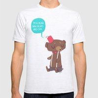 I Am A Bear Now. Bears A… Mens Fitted Tee Ash Grey SMALL