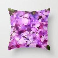 lilac love  Throw Pillow