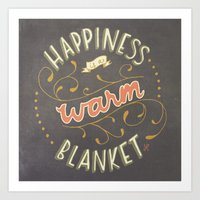 Happiness Is A Warm Blan… Art Print
