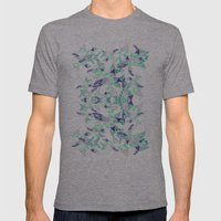 Kaleidoscopic print illustration  Mens Fitted Tee Athletic Grey SMALL