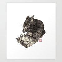 DJ Squirrel Art Print