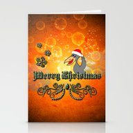 Christmas Crow Stationery Cards