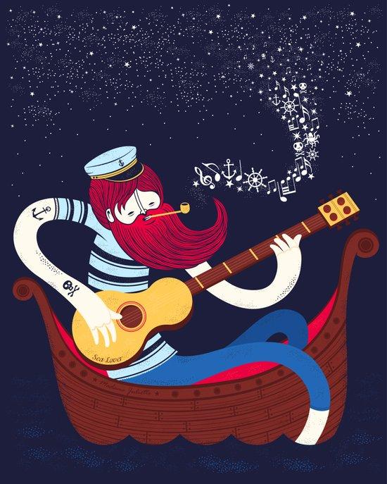 Sea Songs Night Art Print