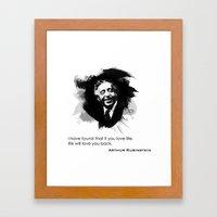 Arthur Rubinstein - Love Life Framed Art Print