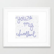 Sweetheart // blue Framed Art Print