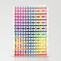Stripes In Colours Stationery Cards