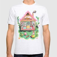 Rebecca Rabbit, Her Hous… Mens Fitted Tee Ash Grey SMALL