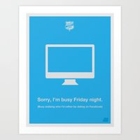 Friday Night Art Print