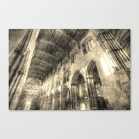 Rochester Cathedral Vintage Canvas Print