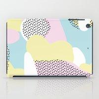Candy Pink Blue Blobs & Dots Pattern iPad Case