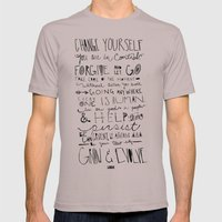 Gandhi Mens Fitted Tee Cinder SMALL