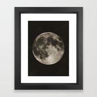 The Moon  [Sans Type] Framed Art Print