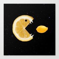Lemon eats lemon Canvas Print