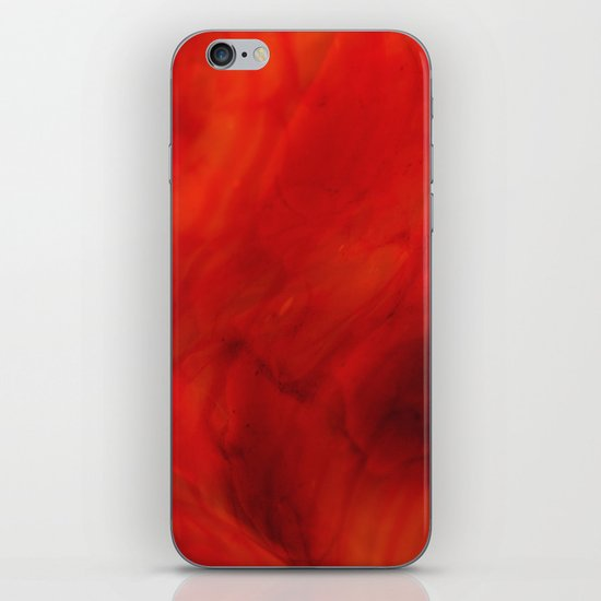 Red glass iPhone & iPod Skin