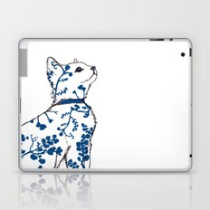 Floral Kitten Laptop & iPad Skin