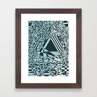 Blue & Black Abstract Framed Art Print