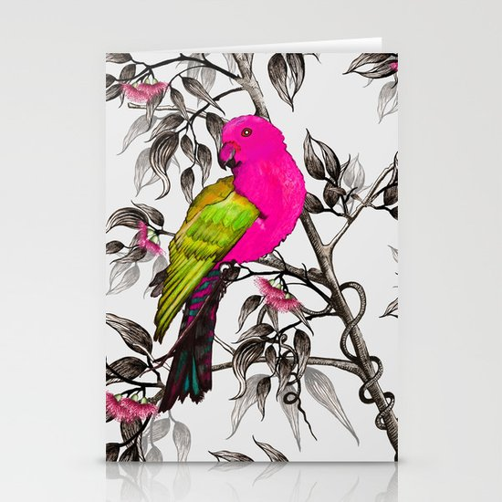 King Parrot Stationery Card