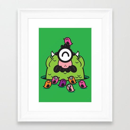 Chameleonster Framed Art Print