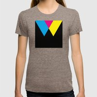 W like W Womens Fitted Tee Tri-Coffee SMALL