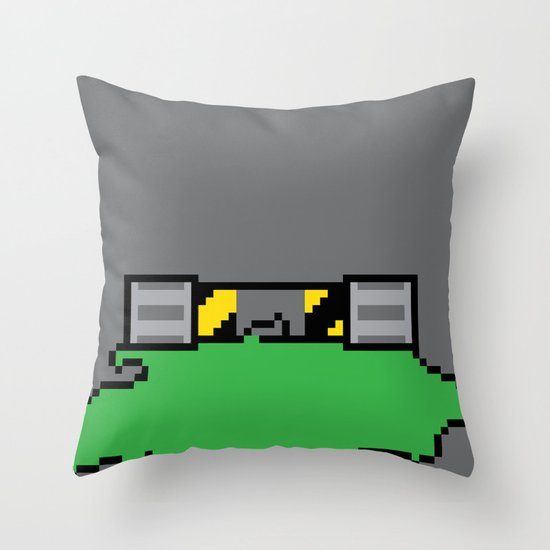 Teenage Mutant Ninja Pixels Throw Pillow