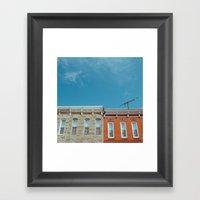 Federal Hill Homes Framed Art Print