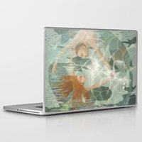 the little mermaid Laptop & iPad Skins featuring Little Mermaid by Fizzyjinks