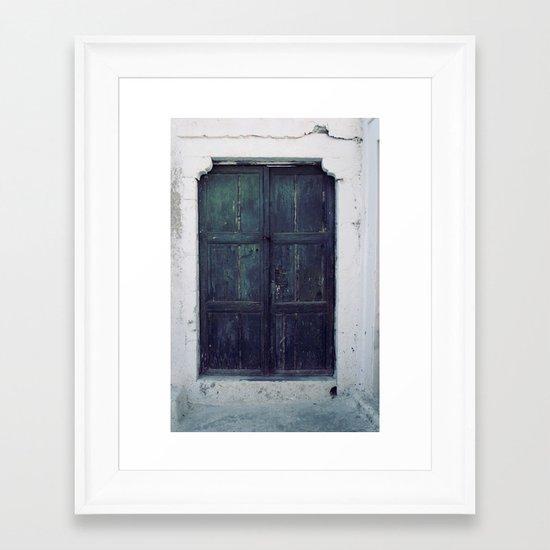 Santorini Door II Framed Art Print