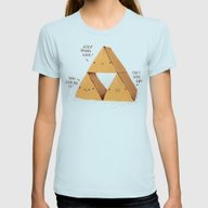The Try Force. Womens Fitted Tee Light Blue SMALL