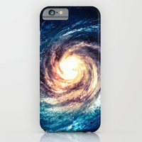 iPhone Cases featuring Spiral Galaxy by Zavu