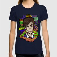 The 10th Doctor Womens Fitted Tee Navy SMALL