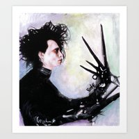 Edward Scissorhands: The story of an uncommonly gentle man. Art Print